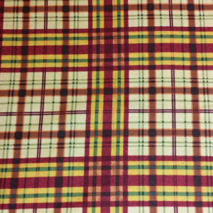 Plaid/Argile Cotton prints