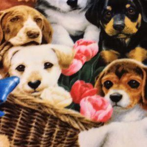 Pups Fleece Prints