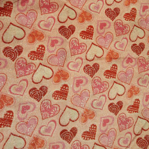 Pink and Red Shimmer Hearts